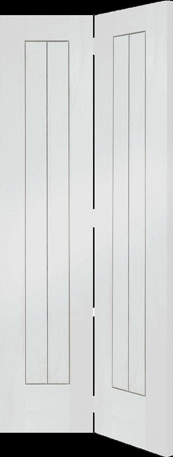 & 27 x 78 White Primed Suffolk Bi-Fold Door