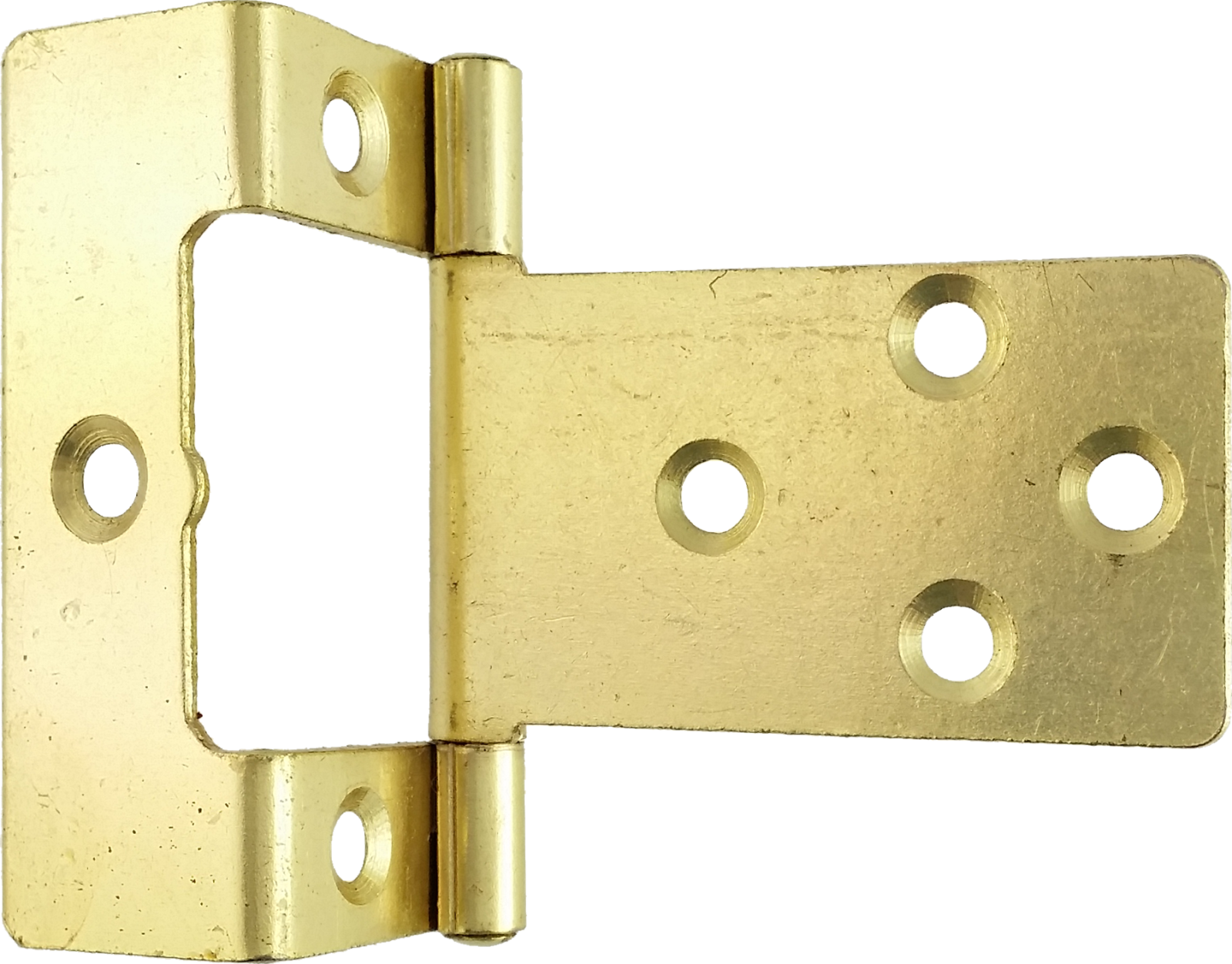Price Kitchen Cabinets 50mm Cranked Flush Hinge Brass