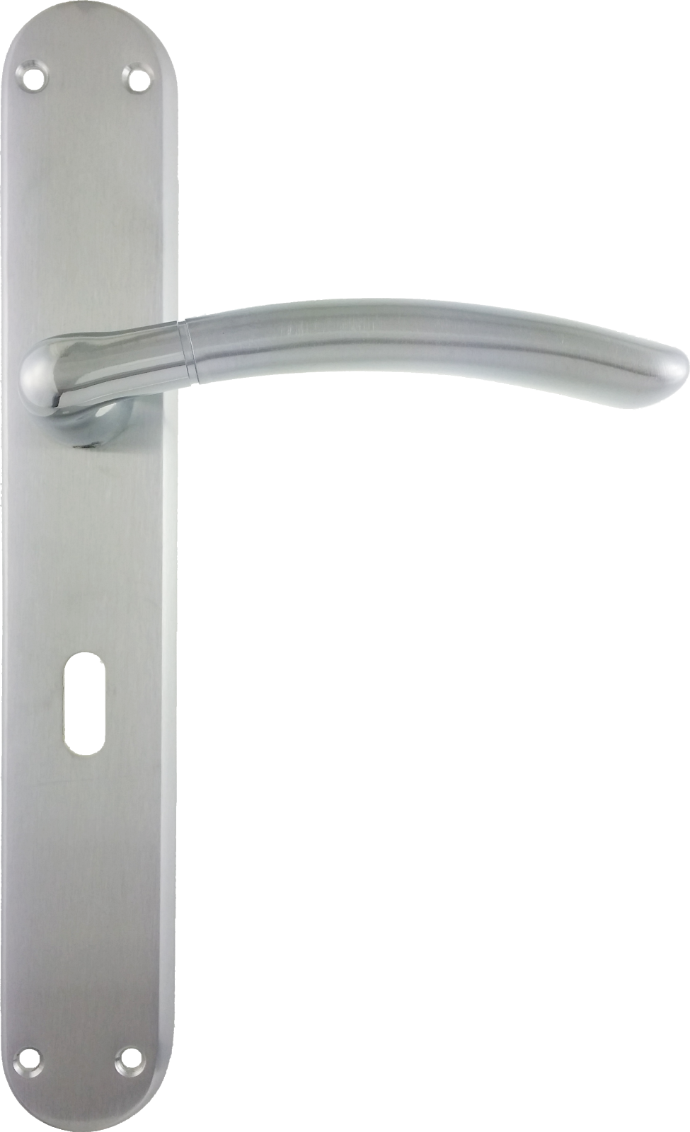 Lever On Long Plate Door Handles Dual Finish