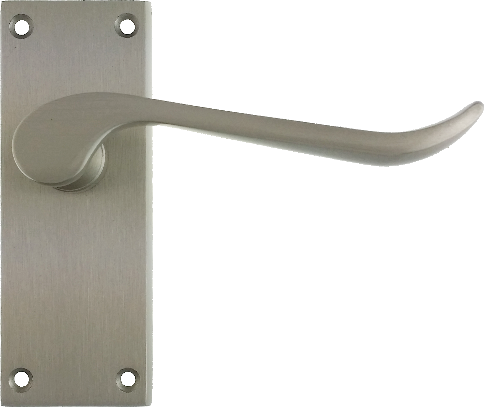 Chrissi Latch Door Handles Satin Nickel