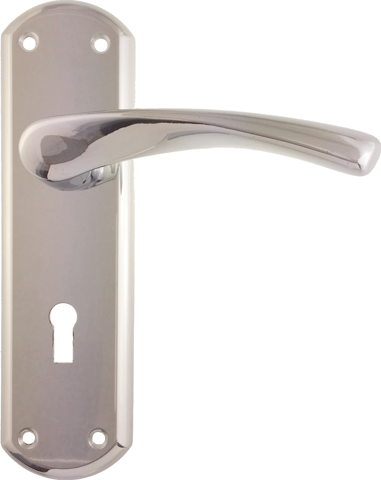 garda lock lever door handles polished chrome
