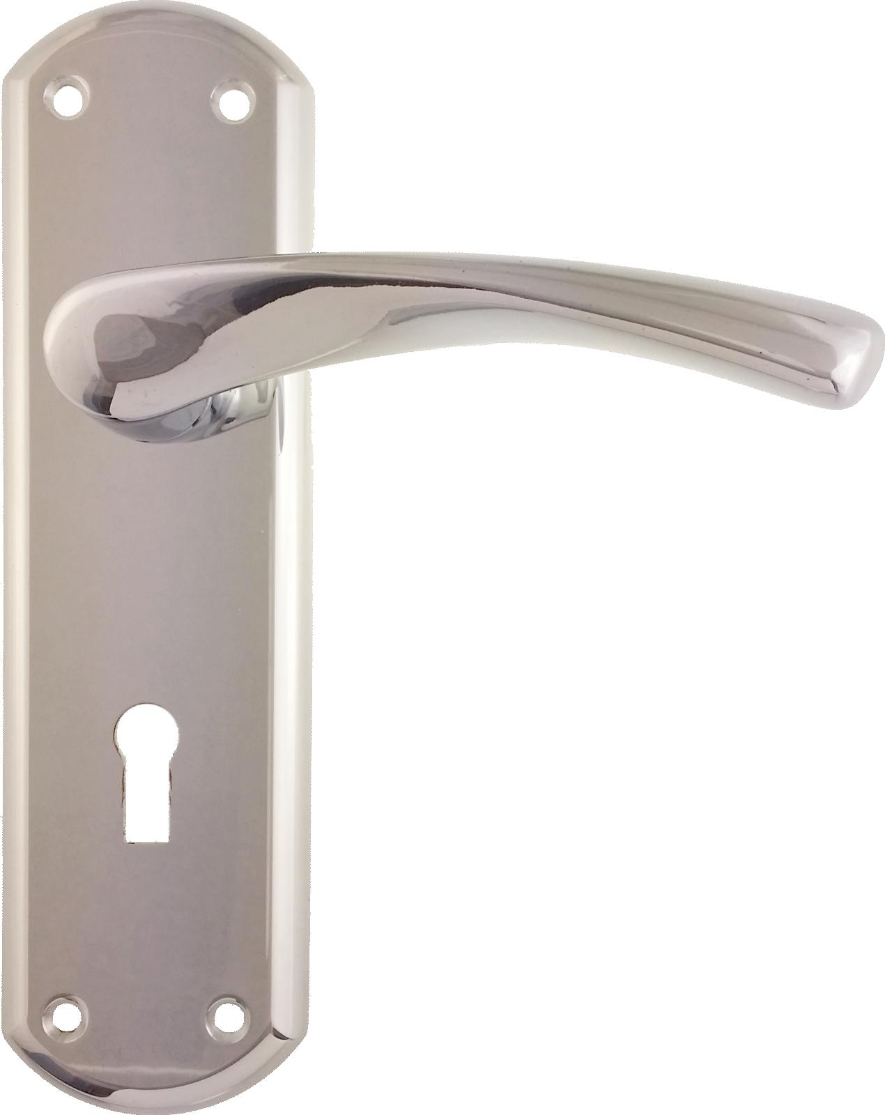Kitchen Door Handles Chrome Bertelli Garda Sash Lock Door Handle Set Polioshed Chrome Lock