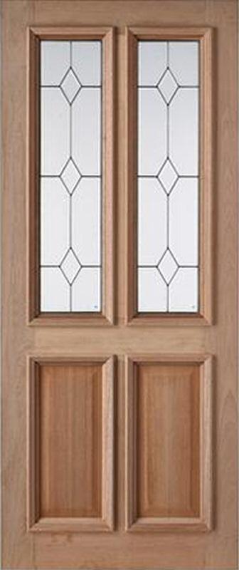 32 X 80 Triple Glazed Chelsea Hardwood Door