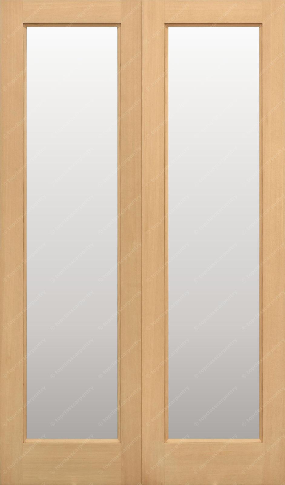 & 46 x 78 Hemlock E20 French Doors Clear Glazed