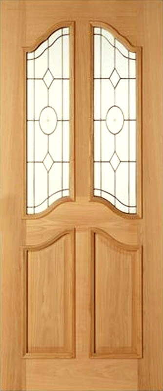 & 32 x 80 Richelieu Oak Triple Glazed Door