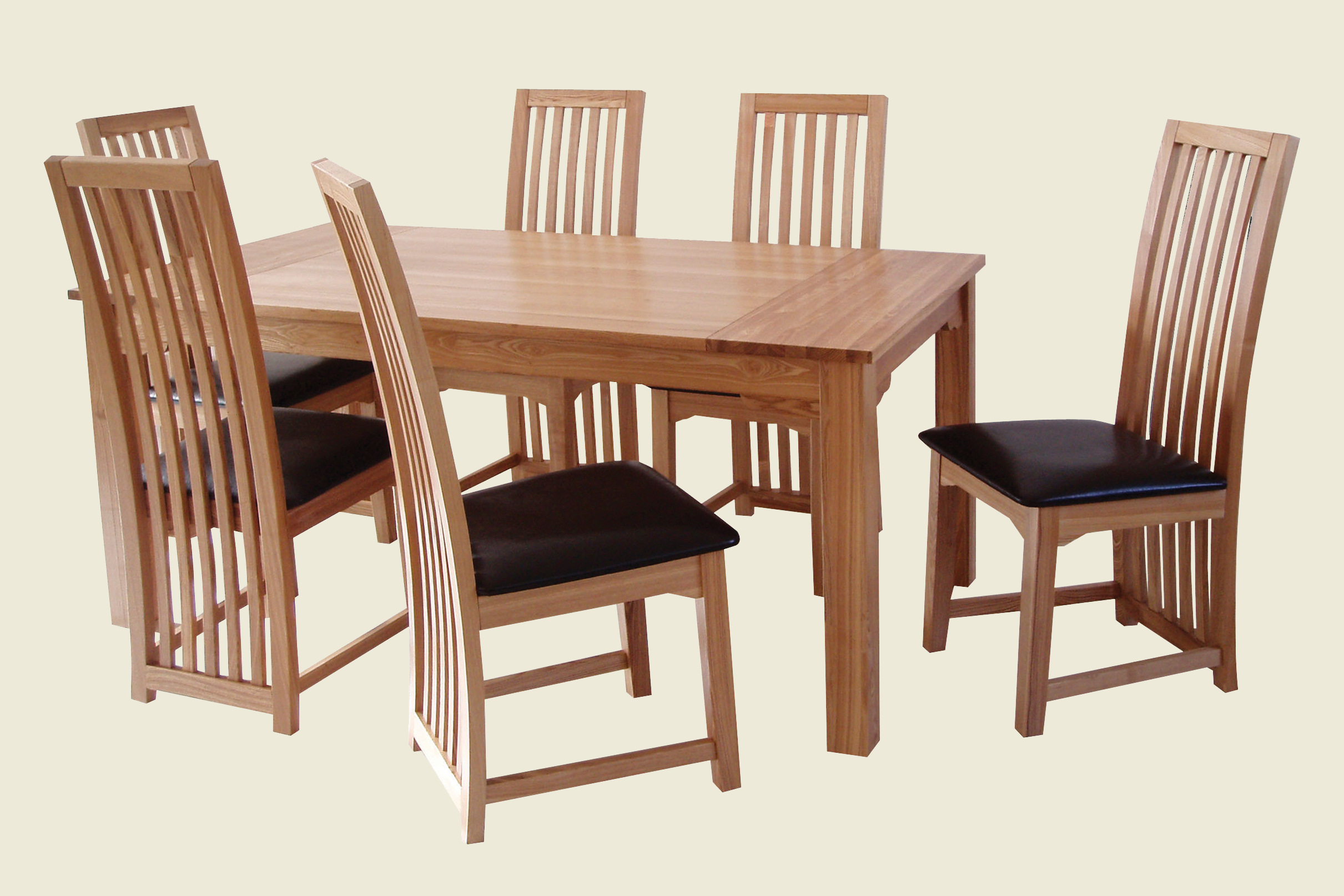 Zz ashbourne dining table 6 chair set for Six chair dining table set
