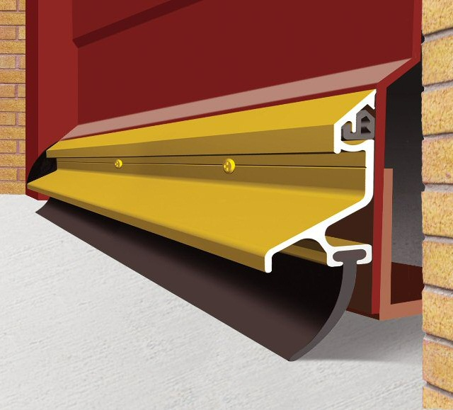 2.1m Garex Garage Door Draught Excluder Gold & m Garex Garage Door Draught Excluder Gold