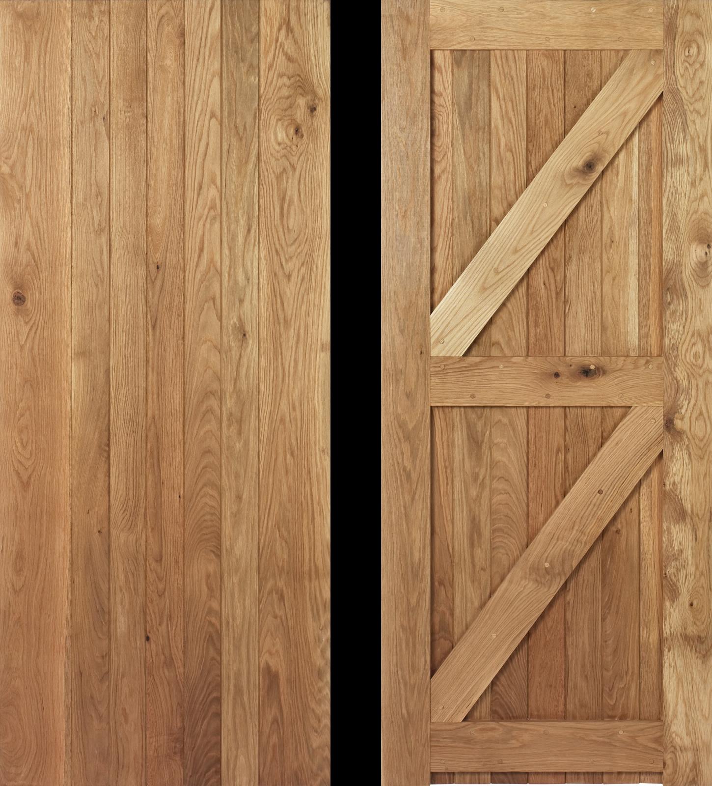 30 x 78 Frame Ledged and Braced Oak Cottage Door