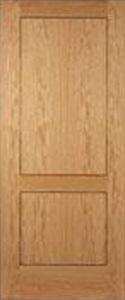 33 X 78 Inlaid Oak Veneer 2 Panel Fire Door