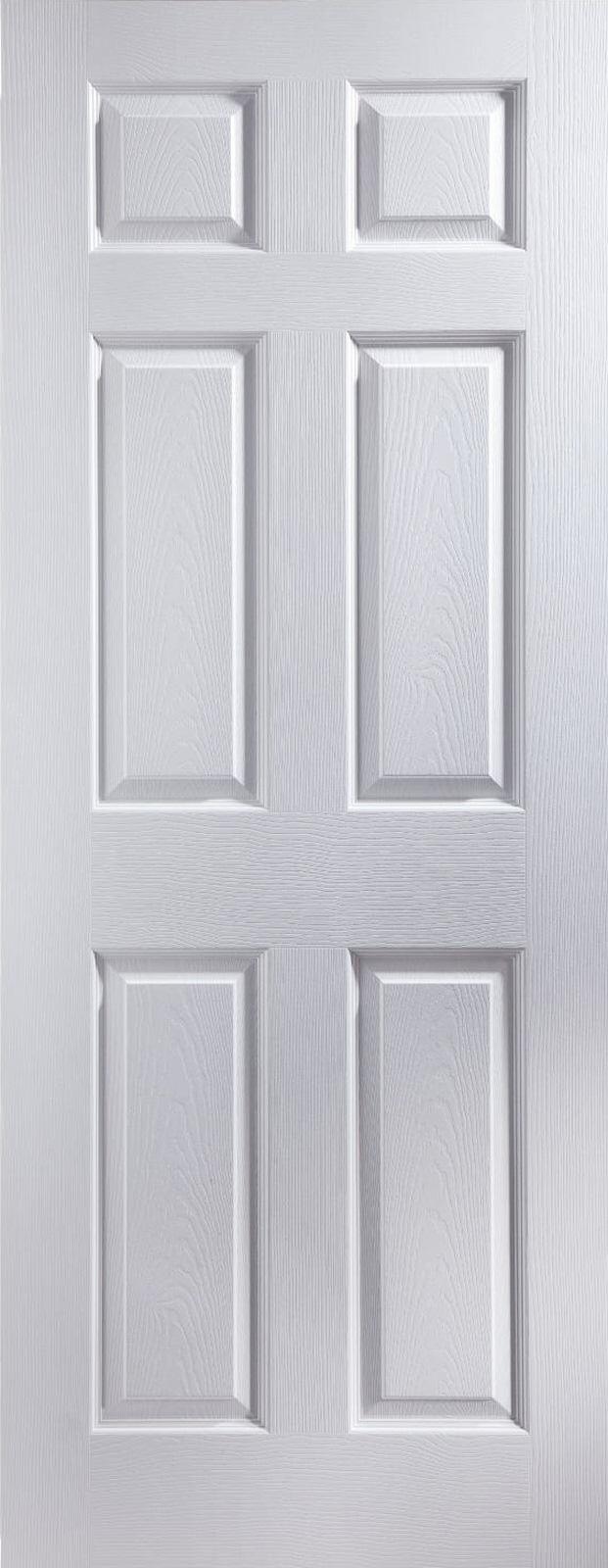 30 X 78 Colonist 6 Panel Grained Slimline Fire Door