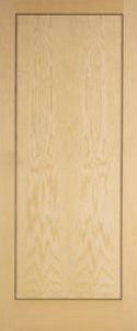 626 x 2040mm ash veneer 1 panel fd30 fire door for 1 panel inlaid oak veneer door