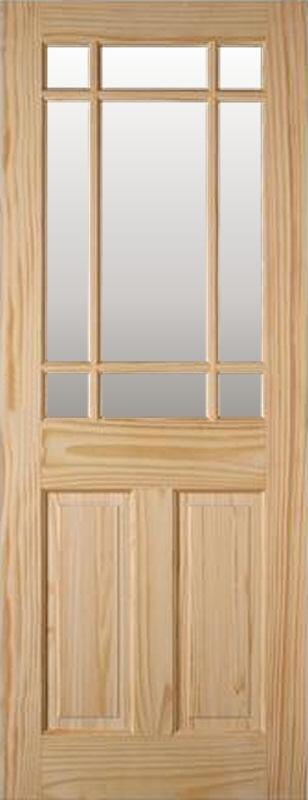 & 30 x 78 Interior Clear Pine Downham Door