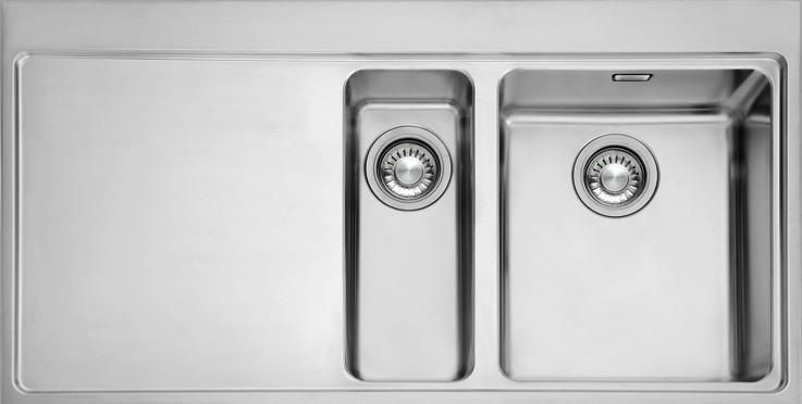 Franke Mythos Sink Stainless Steel : franke mythos sink mmx651 lhd stainless steel inset sinks franke