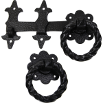Twisted Ring Gate Catch Antique Black
