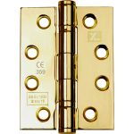 102mm CE13 Polished Brass Stainless Steel Ball Bearing Hinge