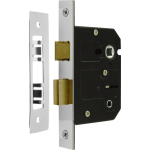 76mm Bathroom Sash-Lock Polished Nickel