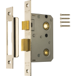 63mm Bathroom Lock Polished Chrome