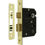 63mm Bathroom Sash-Lock Polished Brass
