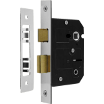 63mm Bathroom Sash-Lock Polished Nickel