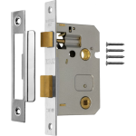 76mm Bathroom Lock Polished Chrome