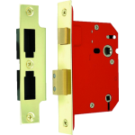 63mm Architectural Bathroom Sash-Lock Polished Brass