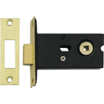 78mm Bathroom Deadbolt Polished Brass