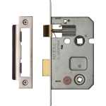 64mm Bathroom Lock Polished Chrome