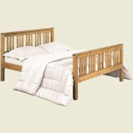 Waxed Pine Shaker Double Bed Frame