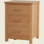 Oakridge 3 Drawer Bedside Cabinet