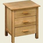 Rosedale 3 Drawer Bedside Cabinet