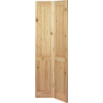 27 x 78 Victorian 4-Panel Knotty Pine Bi-Fold Door