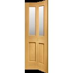 27 x 78 Malton Oak Bi-Fold Door Clear Glazed