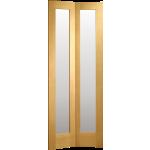27 x 78 Pattern 10 Oak Bi-Fold Door Clear Glazed