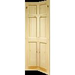 27 x 78 Colonial 6-Panel Knotty Pine Bi-Fold Door