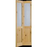 27 x 78 Campion Obscure Glass Knotty Pine Bi-Fold Door