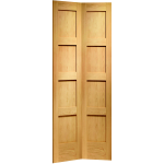27 x 78 Shaker 4-Panel Oak Bi-Fold Door