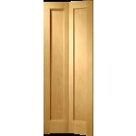 27 x 78 Pattern 10 4-Panel Oak Bi-Fold Door