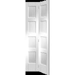 30 x 78 White Primed 4-Panel Shaker Bi-Fold Door
