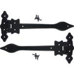280mm x 132mm Black Antique Spear Hinges