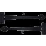 375mm Black Antique Plain Spear Hinges