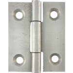 40mm Butt Hinge Natural Steel