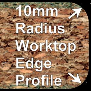 R10 Worktop Trims 10mm Double Radius