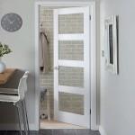 Four Panel Glazed Shaker Primed Doors