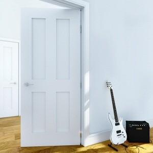 Pattern 44 Eton White Primed Doors
