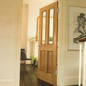 Four Panel Oak Two Light Glazed Doors