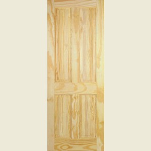 Clear Pine Victorian Four Panel Doors