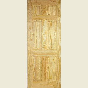Clear Pine Georgian Six Panel Doors