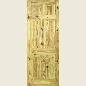 Knotty Pine Six Panel Doors