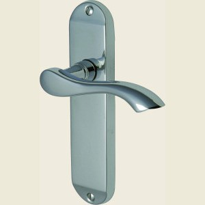 Algarve Polished Chrome Small Plate Door Handles