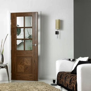Barcelona Glazed Walnut Doors